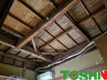 和室の天井を貼替