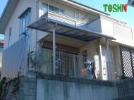 テラス屋根の取付施工後