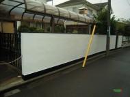 ブロック塀の塗装施工後