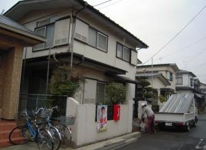 外壁屋根塗装工事前の様子