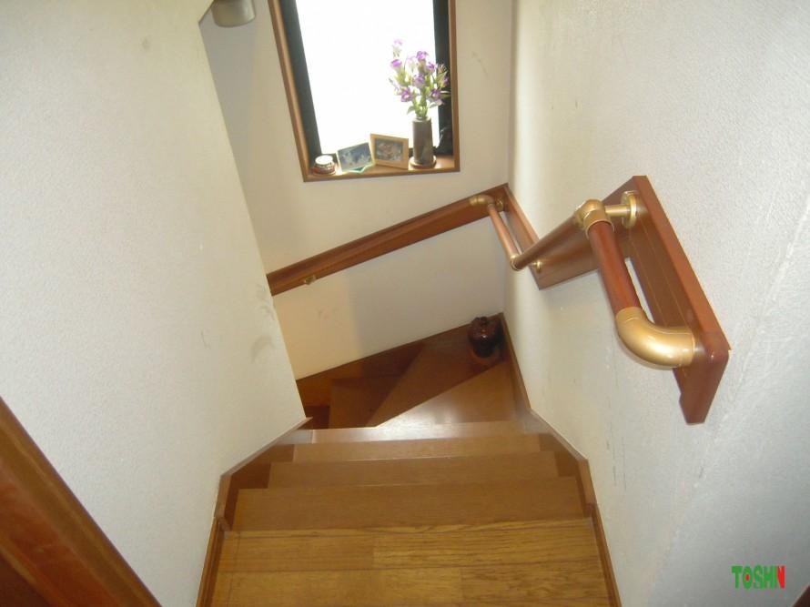 階段手摺の取付施工後