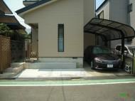駐車スペースの拡張施工後