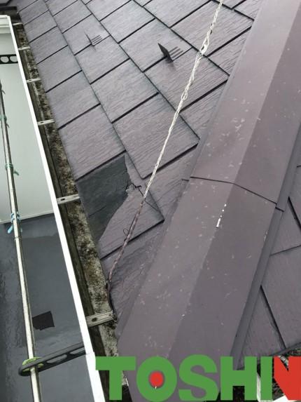 コロニアル屋根の修理