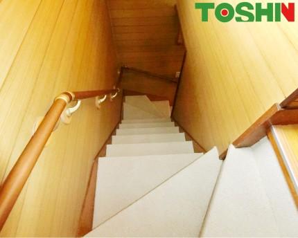 階段のカーペット張替 施工後