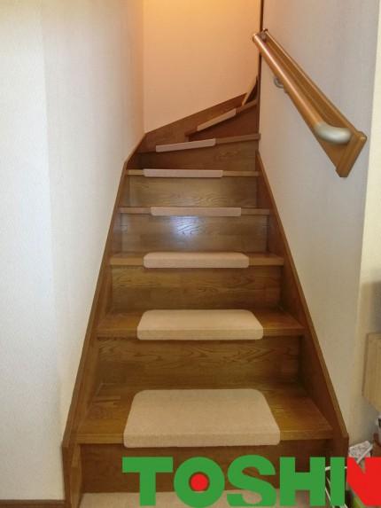 階段に手すり取付け
