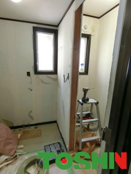 洗面所とトイレを一部屋に