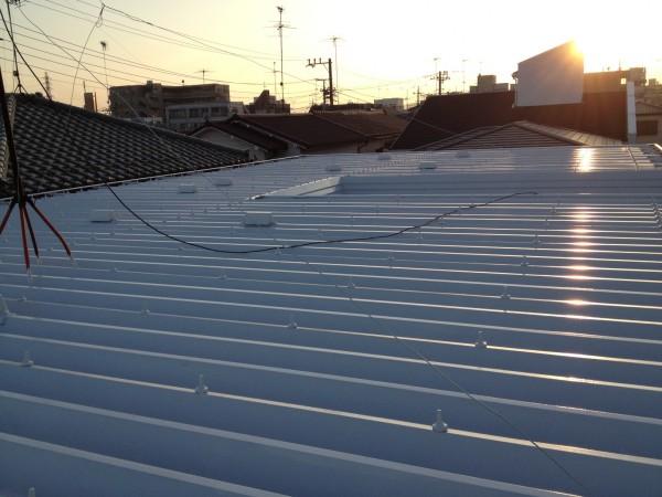 屋根の塗装工事完成