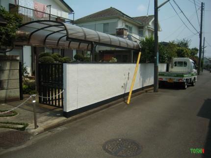 ブロック塀の塗装施工前