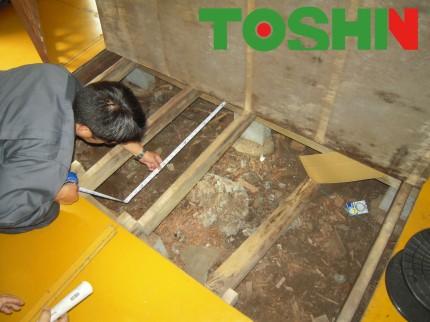 床の張替え工事