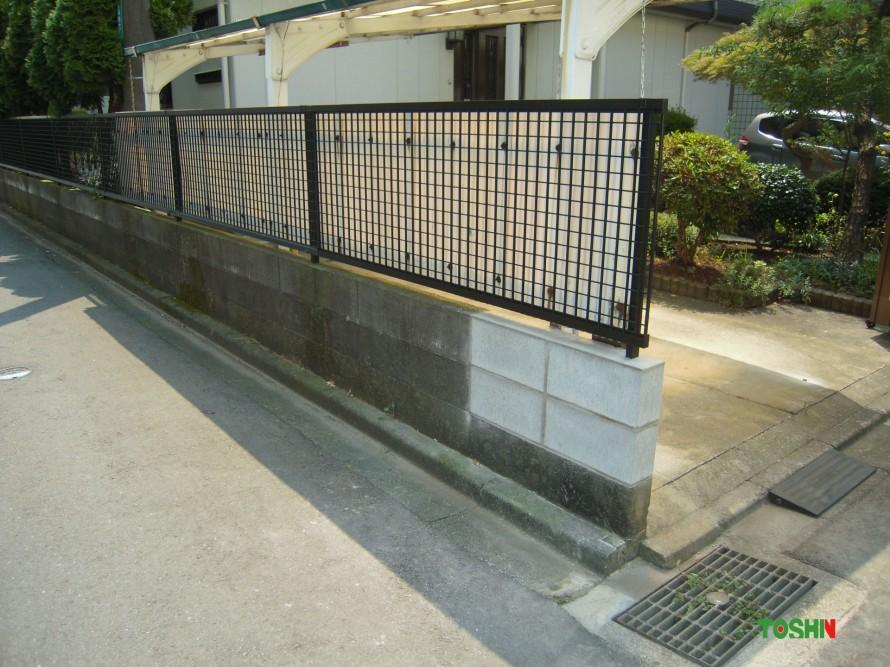 フェンスの修理施工後