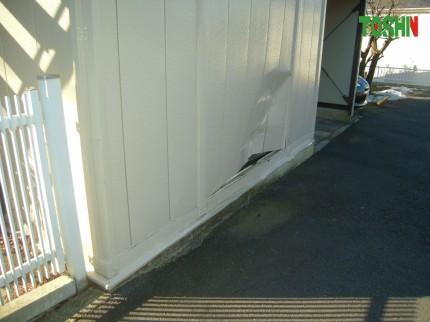プレハブの外壁修理
