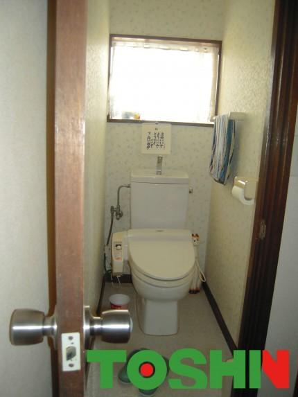 機能壁紙を使ってトイレをリフォーム