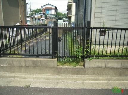 駐車スペースの確保施工前