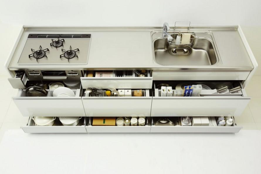 キッチンキャビネット引き戸2