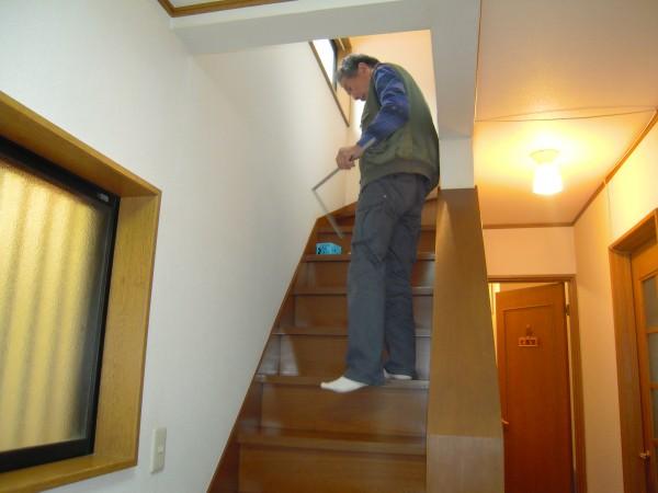 階段手すりの取付工事着工