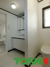 洗面とトイレを一部屋に