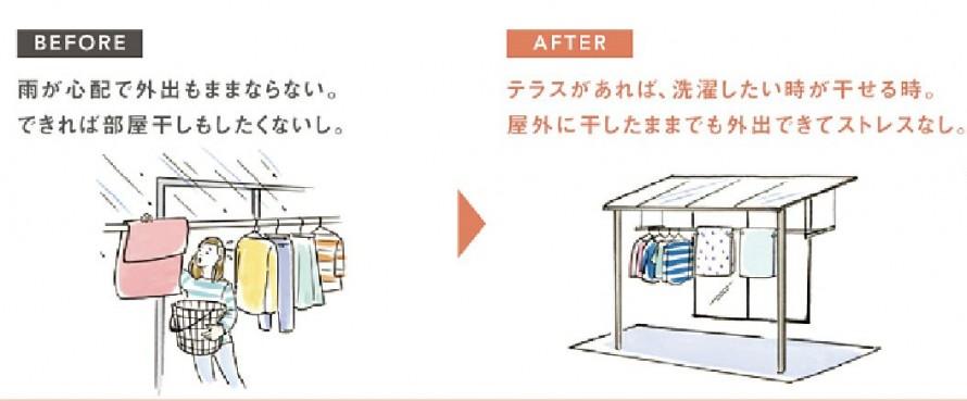 雨の日でも洗濯