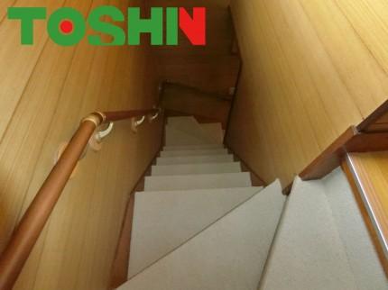 階段のカーペット張替え完了