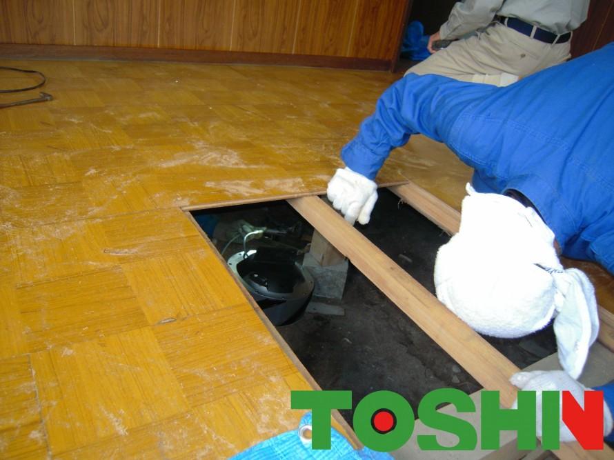 床下換気扇の設置