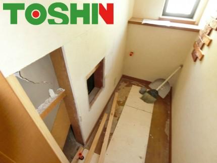 壁面埋め込み手洗器取付