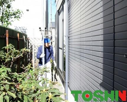 施工中 外壁塗装 職人 相模原市 T邸