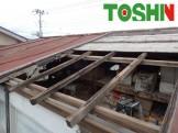 プレハブ屋根の修理