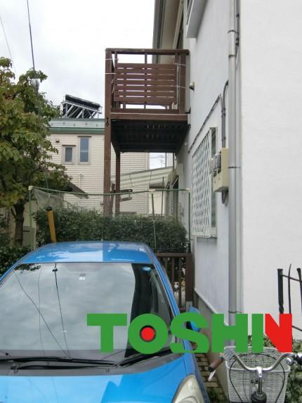 台風の被害によるバルコニーの取替工事