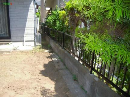 境界フェンス建て直し 施工後