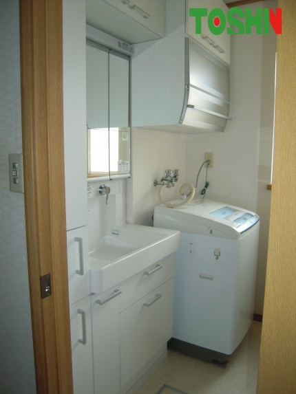 収納にこだわった洗面所
