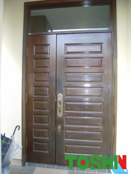 玄関扉の塗装施工前