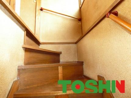 階段手摺の取付施工前