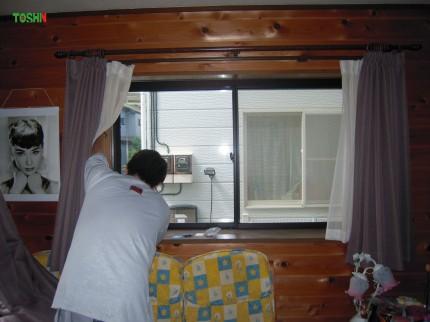 内窓インプラス施工中