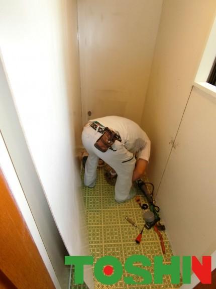 トイレのリフォーム施工中