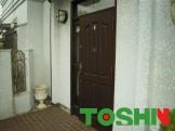 木製玄関扉の塗装施工前