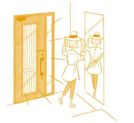 玄関ドアリフォーム【採光】