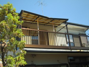 テラス屋根の交換工事
