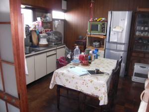 台所の床工事完了