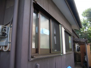 窓と玄関引戸の交換完了