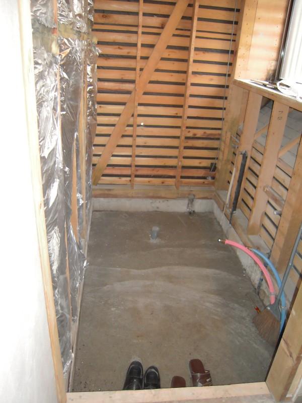 浴室改修解体後