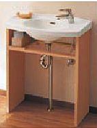 洗面化粧台「モデア」ウッドパネルオープン