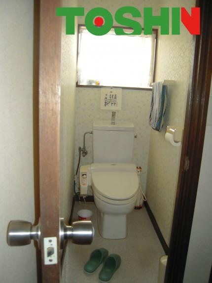 お掃除しずらいトイレ