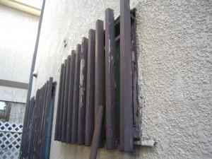 リフォーム前の木製面格子