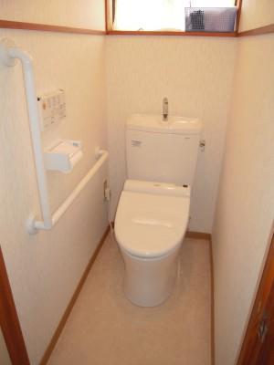 和式トイレリフォームし洋式トイレ完成後