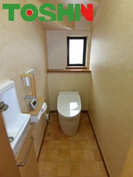 タンクレストイレにリフォーム 施工後
