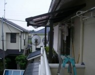 テラス屋根取付施工後