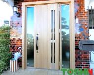 玄関ドア交換 LIXIL リシェント 施工後 rogo