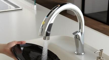 システムキッチン シエラ ハンズフリー水栓 A9タイプ・エコセンサー付