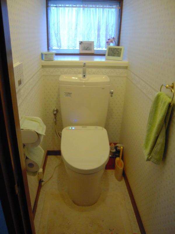 トイレの改修工事完工です