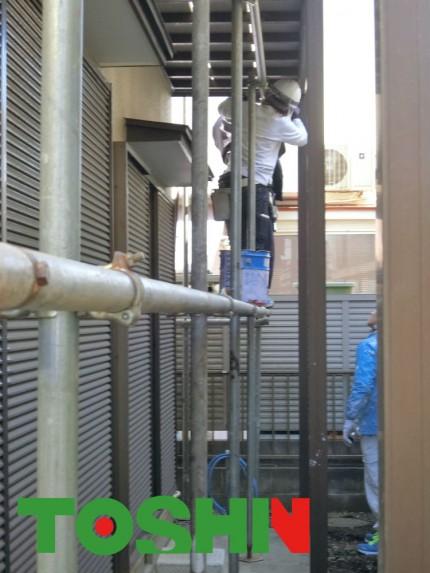 外壁塗装工事 足場の架設