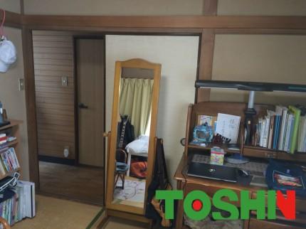 和室を洋室にリフォーム施工前②